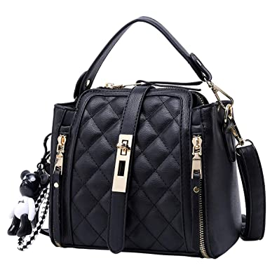 34ae5bd84c66 Amazon.com: Mn&Sue Small Quilted Bucket Bag Women Crossbody Mini ...