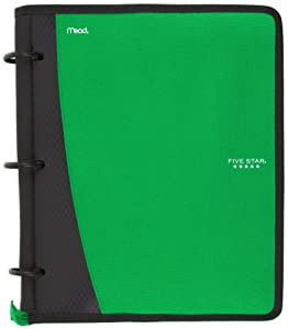 Five Star Flex Hybrid NoteBinder, 1 Inch Ring Binder, Notebook and Binder All-in-One, Electric Green (73416)