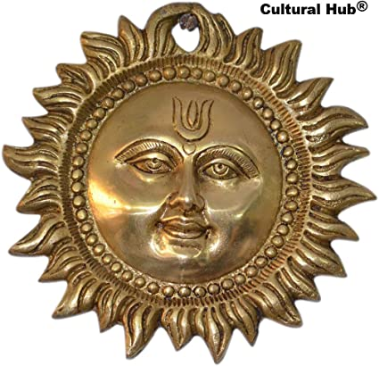 Sun Wall Hanging Brass Metal Plaque Indian Home Decor 6 Inch Amazon Co Uk Kitchen Home