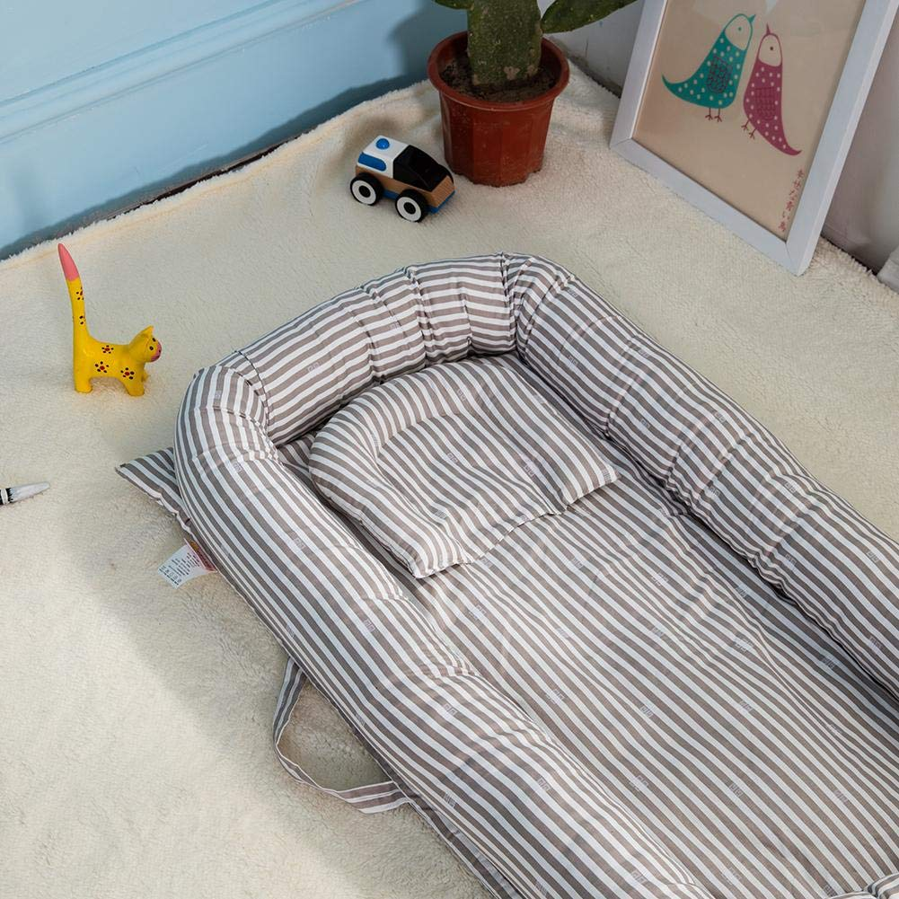 iStary Krippe Bett Baby Geb/ärmutter Bionisches Bett Portable Baby Bassinet F/ür Bett Weiche Und Atmungsaktive Neugeborene Bassinet Babynestchen Reisebett Wickelauflage Kuschelbett