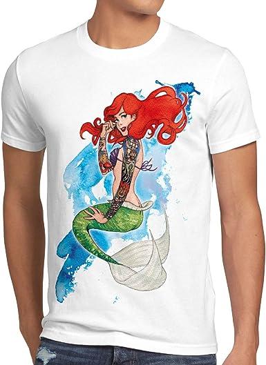 style3 Ariel Sirena Camiseta para Hombre T-Shirt Sirenita tatuar USA: Amazon.es: Ropa y accesorios