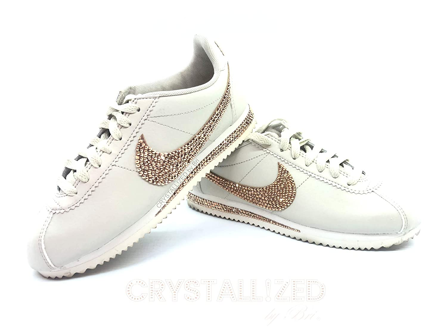 f4dc0e5421ea2 Amazon.com  Swarovski CRYSTALLIZED Nike s Women Sneakers Classic Cortez  Bling Crystals  Handmade