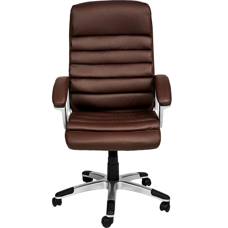 TecTake Design Bürostuhl Bürostuhl Bürostuhl Chefsessel mit gepolsterten Armlehnen   Softpolsterung   Wippmechanik   Diverse Farben (Weiß   Nr. 402151) 061729