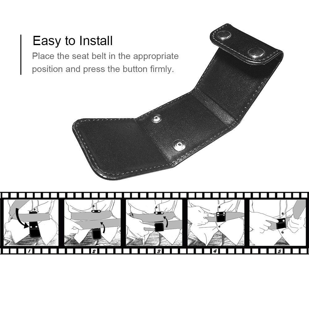 Negro, Paquete de 2 TUPSKY Comfort Auto Protector de cuello de hombro Protecciones de clip de bloqueo Ajustador de cintur/ón de seguridad Posicionador de cintur/ón de veh/ículo