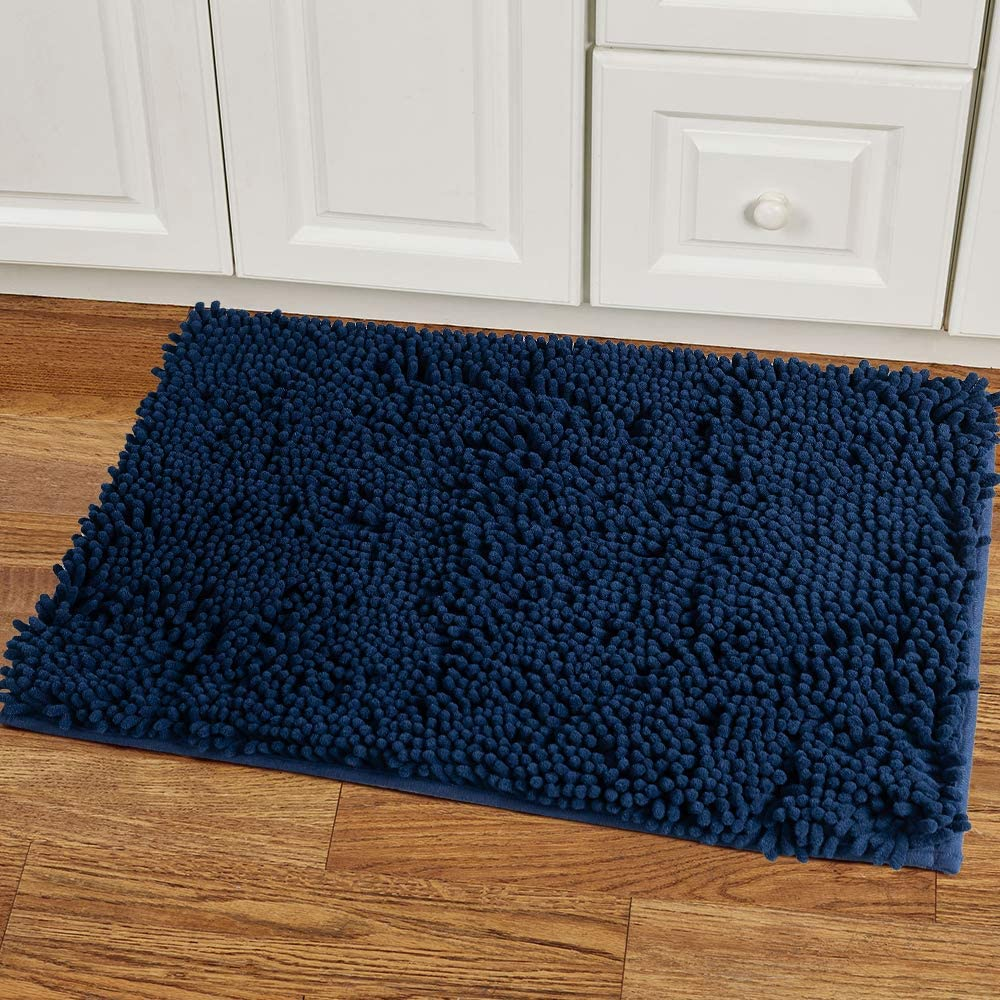 47x 16 In Green Rug for Kitchen Shaggy Chenille Rugs 2 Pieces Set Non Slip Washable Absorbent Runner Rug Set//Kitchen Rugs and Mats//Floor Mat//Entryway Rug//Bath Rug 24x 16 In