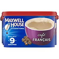 Maxwell House International Café Francais Café-Style Instant Coffee Beverage Mix, 4 ct. Pack, 7.6 oz. Canisters