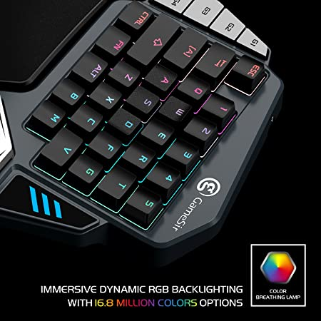 GameSir Z1 RGB Mechanical Gaming Keyboard Cherry MX Red Key Switches One  Handed Mini Keypad FPS PUBG Mobile Game Keyboard