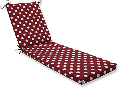 Pillow Perfect Outdoor/Indoor Polka Dot Red Chaise Lounge Cushion 80x23x3 - the best outdoor chair cushion for the money