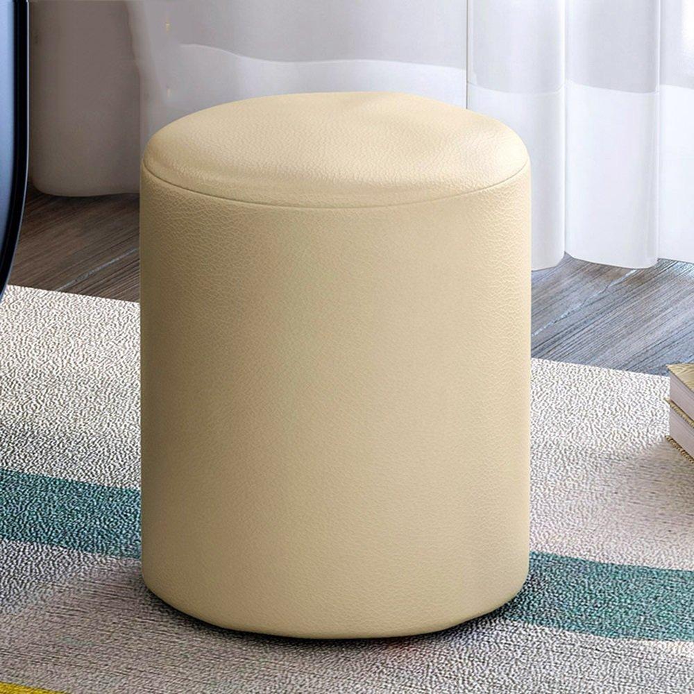 Xin-stool Lederhocker/Modehocker / Schwammschuhhocker/Niedriger Hocker/kreativer Schuhhocker (Farbe : Beige) XIN XIN EU
