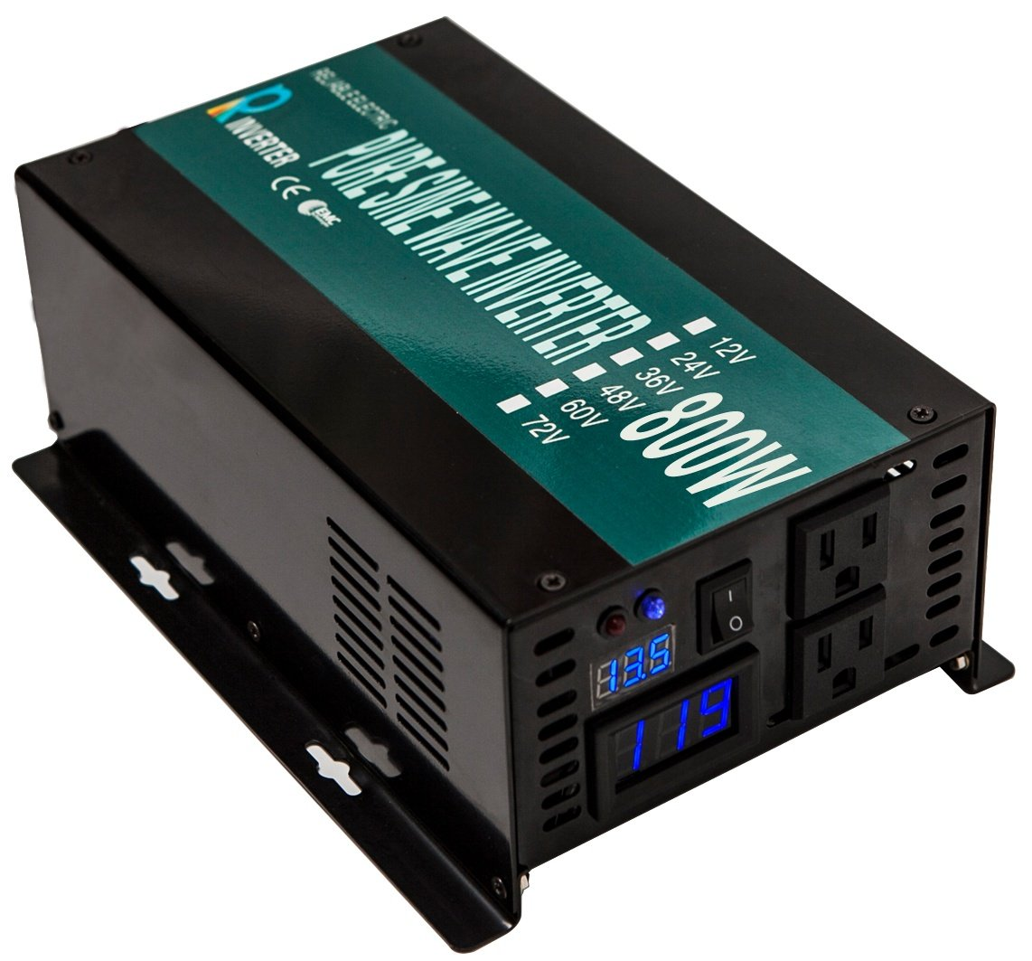 WZRELB Reliable Power Inverter 800w 1600w Peak Pure Sine Wave Inverter 12v 120v 60hz LED Display by WZRELB (Image #7)