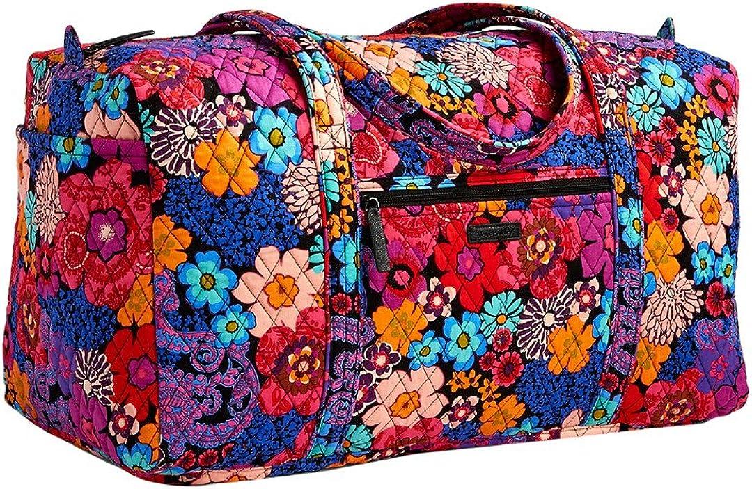 Vera Bradley Large Duffel Bag In Floral Fiesta
