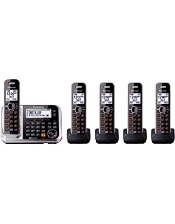 Panasonic Bluetooth Cordless Phone KX-TG7875S Link2Cell with Enhanced Noise  Reduction   Digital Answering Machine 780420e659