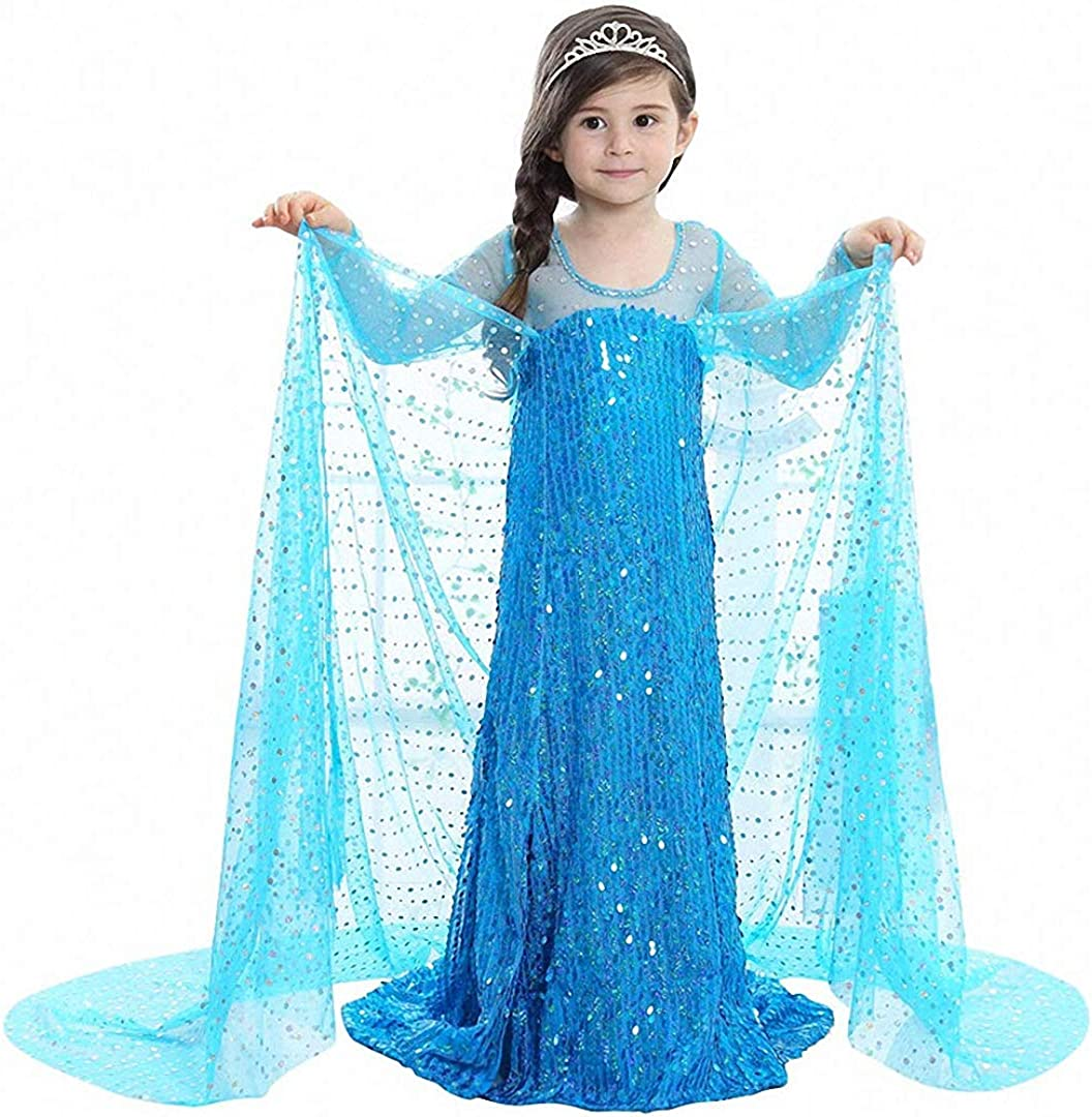 Luzlen Princess Costume Dress for Your Little Girls Halloween Birthday Party Clothes 2-10 Years