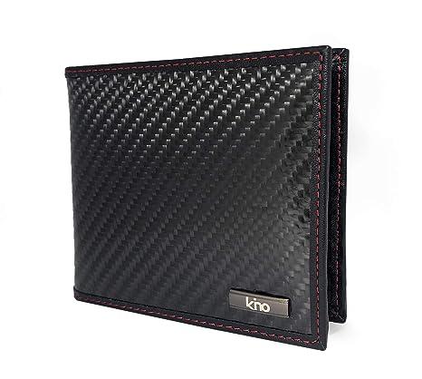 comprare popolare 9cc16 b5da6 Kino Portafogli da Uomo in Fibra di Carbonio | Elegante e Lussuoso  Portafoglio con Blocco RFID | Design Sottile e Minimalist, ma con Tanto  Spazio per ...