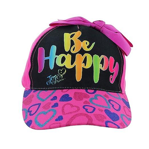 Amazon.com  JOJO SIWA New Bow Hat Girls Black Rainbow Cap Sunhat Dream   Clothing 1418f76ac58