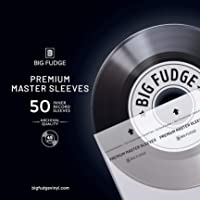 Big Fudge Premium Vinyl Record Inner Sleeves 50x | Made from Heavyweight & Acid Free Paper | Album Covers with Round…