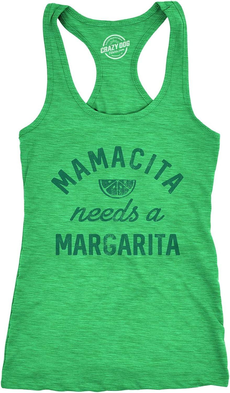 Womens Tank Mamacita Needs A Margarita Tanktop Funny Cinco De Mayo Tequila Shirt