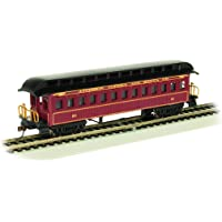 Old-Time Coach Car with Round End Clerestory Roof - Santa FE - HO Scale