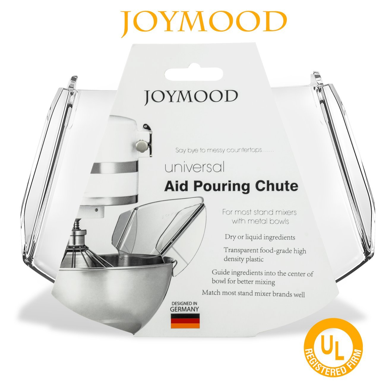 Pouring Shield, JOYMOOD Universal Pouring Chute for KitchenAid Bowl-Lift Stand Mixer Attachment/Accessories by JOYMOOD (Image #6)