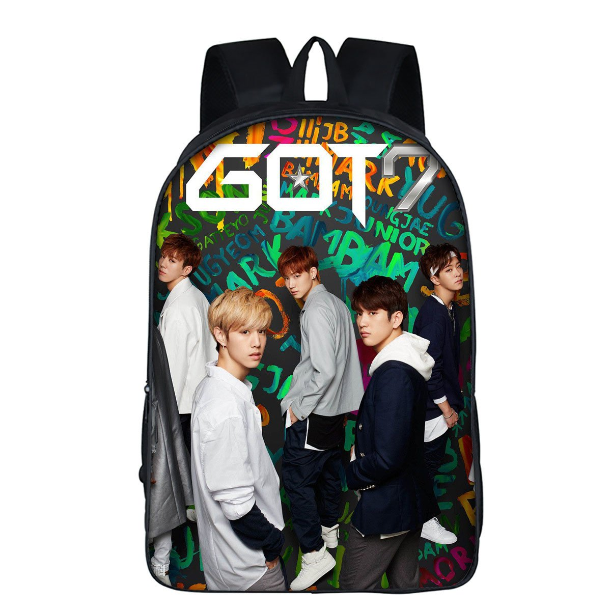 ALLDECOR Kpop GOT7 Student Schoolbag Decompression Backpack Casual Shoulder Bag