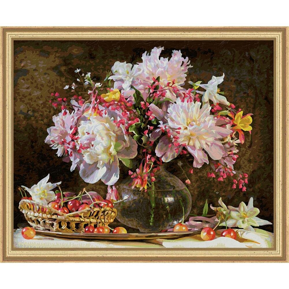 Schipper 609130773'' A Bunch of Flowers and Cherries Painting by Number by Schipper