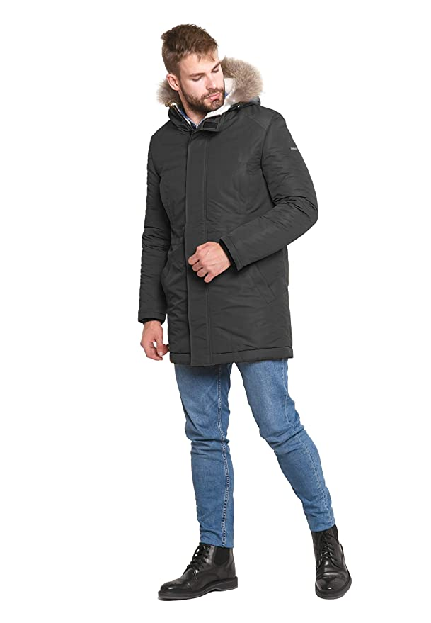 ce5f5d540 Amazon.com: DASTI Men's Hooded Snow Warm Jacket Mens Sherpa Line ...