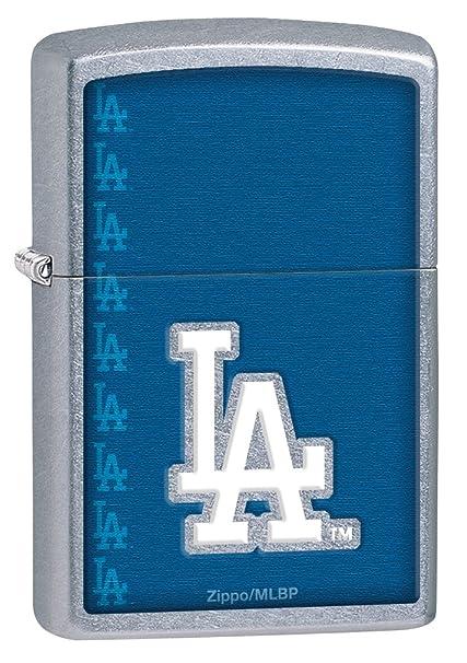 Amazon.com: Zippo MLB Los Angeles Dodgers Calle Cromo ...