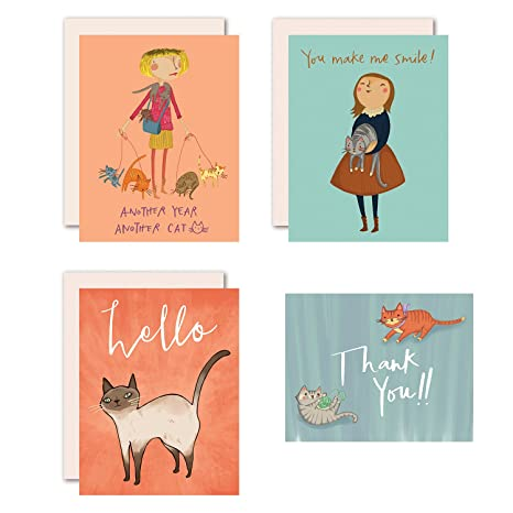 Cat Themed Assorted Greeting Cards