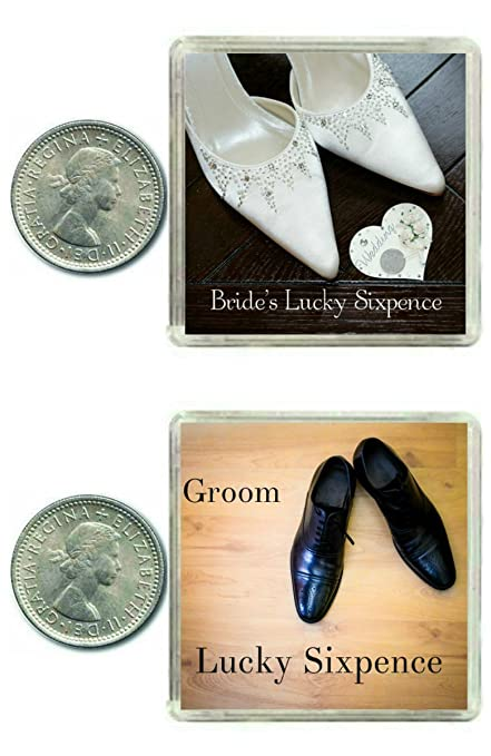 2 Lucky Wedding Sixpence Coins for the Bride & Groom & Traditional idea for The Bride