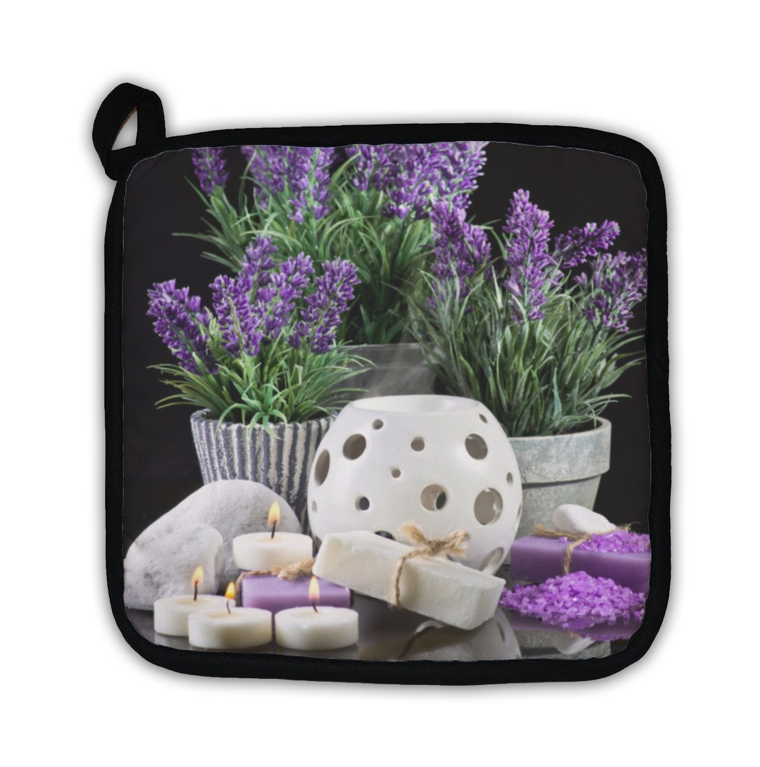 Gear New ''Spa Still Life with Purple Flowers'' Pot Holder