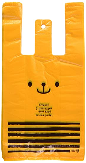 de6b21931f3 Amazon.co.jp: 手提げ袋 レジ袋 くま オレンジ-S (100枚) CDB-S: ホーム ...