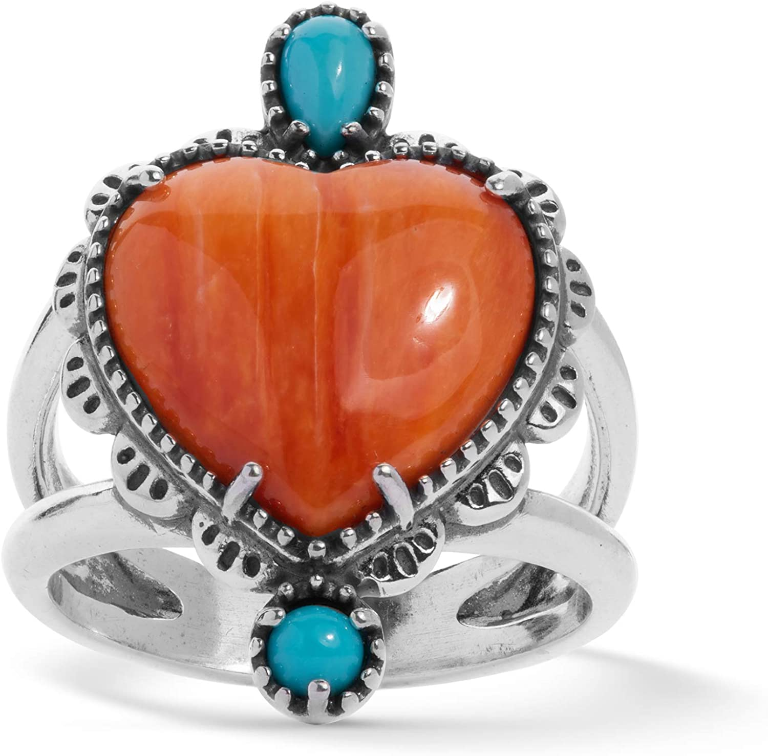 Navajo Turquoise and Multi Stone Spiny Oyster Ring
