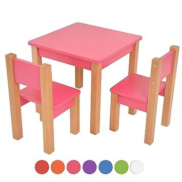 Kindertisch Mit 2 Stühle 3 Tlg Set Sitzgruppe Für Kinder