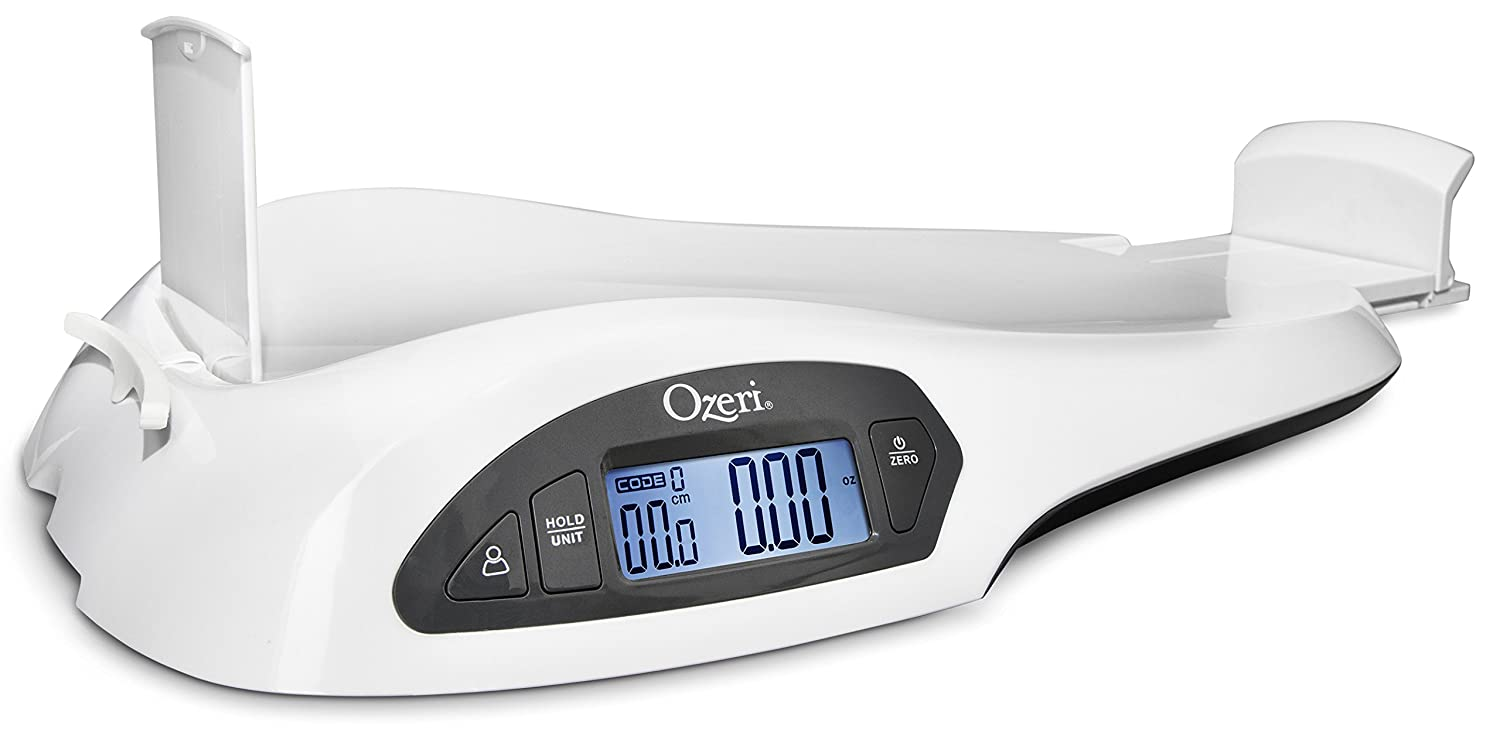 Ozeri All-in-one Baby and Toddler Scale With Weight and Height Change Detection, 1 Count ZBB1-W