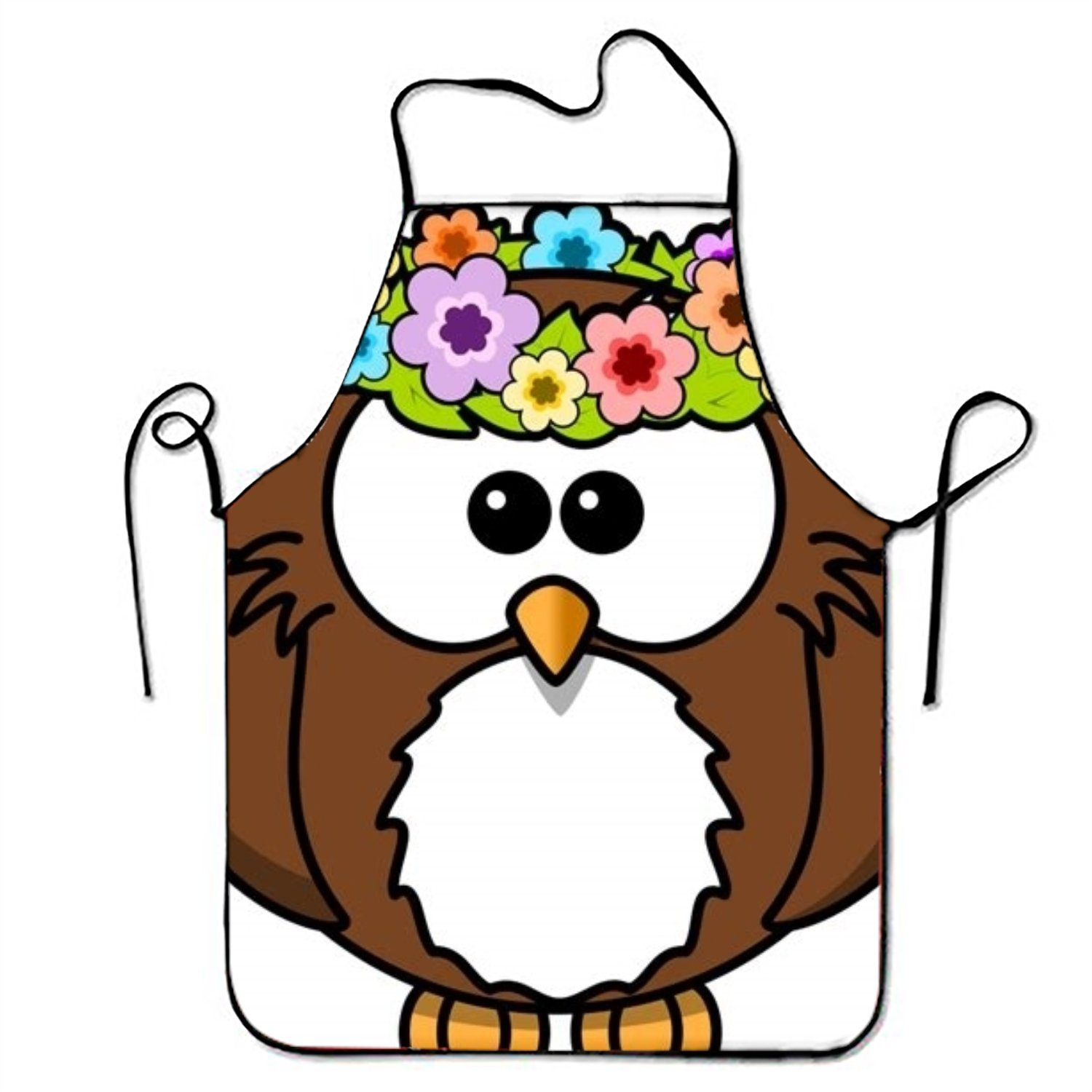 Eartha Tracy Owl Clipart Black And White Aprons For Baking Bib Apron