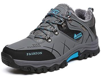 dca4d95ac YITU Hombre Otoño Invierno Botas de Senderismo Impermeables de Ocio al Aire  Libre Zapatos de Deporte Zapatillas de Senderismo Cordones Trainer Botas  Verde ...