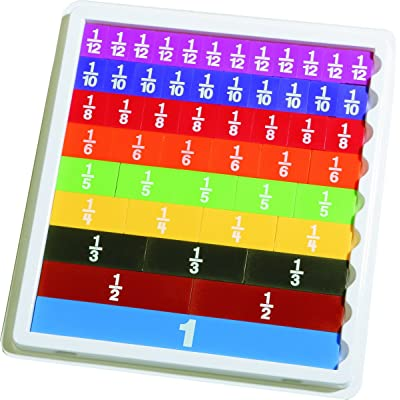 Learning Advantage 7660 Fraction Tiles with Tray, Grade: 2 to 6 (Pack of 51), Multi: Industrial & Scientific
