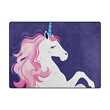 Amazon Com Vantaso Non Slip Nursery Rugs Unicorn With Pink Hair