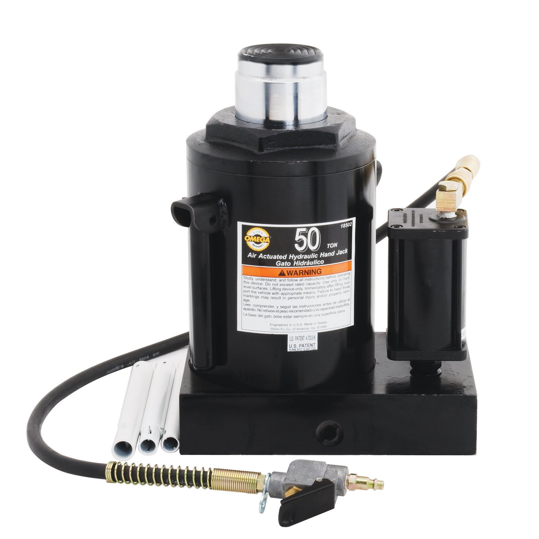 Amazon.com: Omega 18502 Black Hydraulic Air Actuated Bottle Jack - 50 Ton Capacity: Automotive