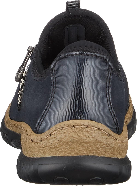 Rieker Slip On Sneaker mit einfachem Schnellverschluss