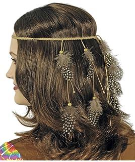 eb3f34a13d4e6e Kopfschmuck Kleiner Falke mit Federn zum Wilder Westen Indianer Kostüm