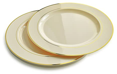 OCCASIONS 40 PACK Heavyweight Disposable Wedding Party Plastic Charger Plates/Extra Large Dinner Plates  sc 1 st  Amazon.com & Amazon.com: OCCASIONS 40 PACK Heavyweight Disposable Wedding Party ...