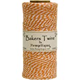 Hemptique Baker's Twine Spool, orange and White