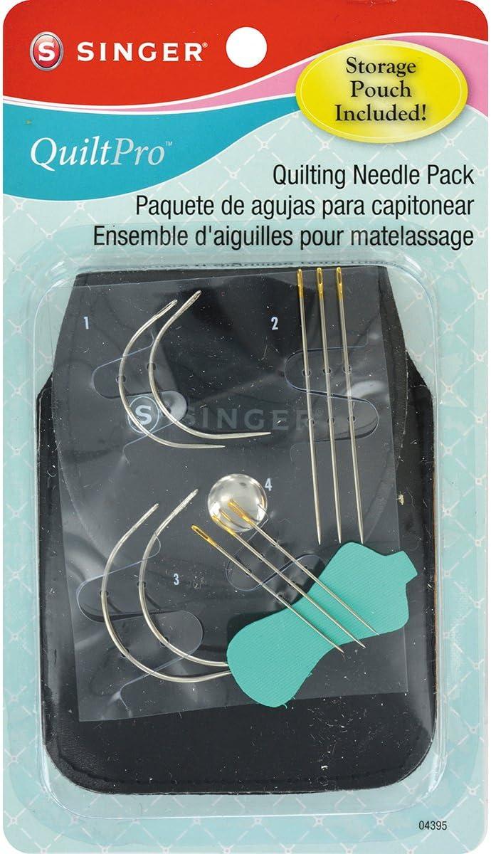 Singer Metall quiltpro Quilting Nadel Pack mit Tasche f/ür