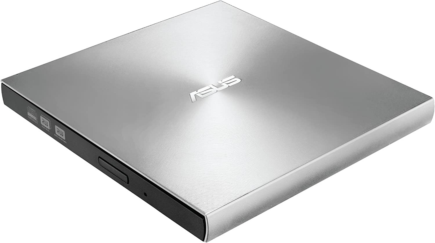 ASUSZenDrive Silver 13mm External 8X DVD/ Burner Drive +/-RW with M-Disc Support, Compatible with both Mac & Windows and Nero BackItUp for Android devices (USB 2.0 & Type-C cables included)