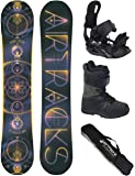 Snowboard Komplett Set / AIRTRACKS Cosmic Voyage Rocker Wide + Snowboardbindung Star + Snowboardboots + Sb Bag / 152 156 160 164 cm