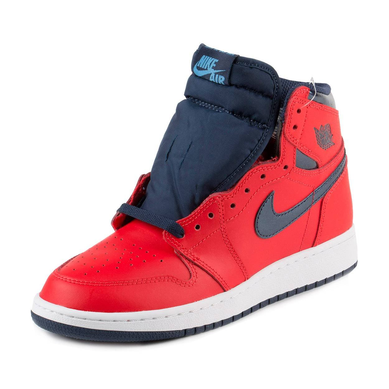 brand new 87d0b 50764 Galleon - Jordan Air 1 Retro High OG BG David Letterman Youth Sneakers New  Light Crimson - 6.5