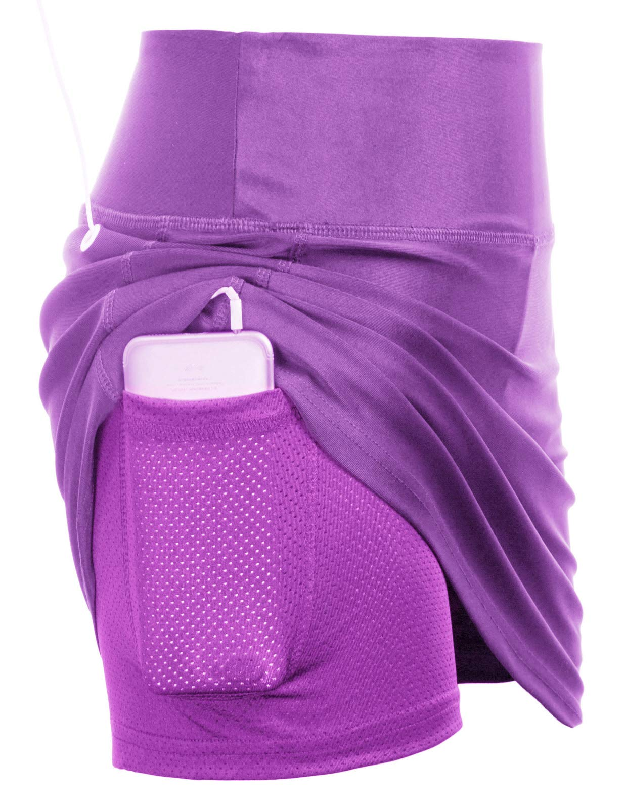 Active Women's Golf Athletic Skort with Underneath Shorts(XL,Purple) by JACK SMITH