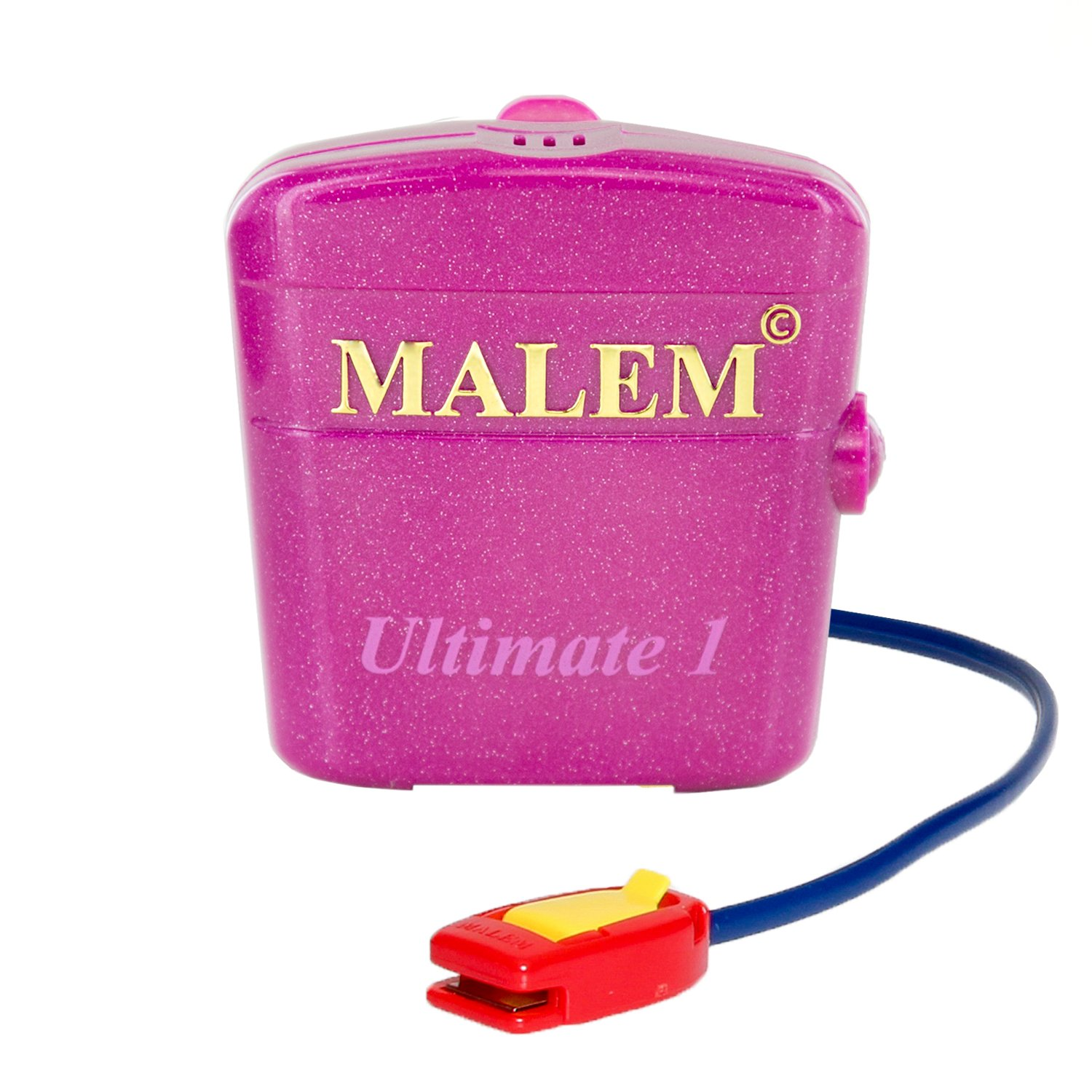Malem Ultimate PRO Pink Bedwetting Alarm for Girls & Boys with Loud Sound and Strong Vibration to Stop Bed Wetting by Malem