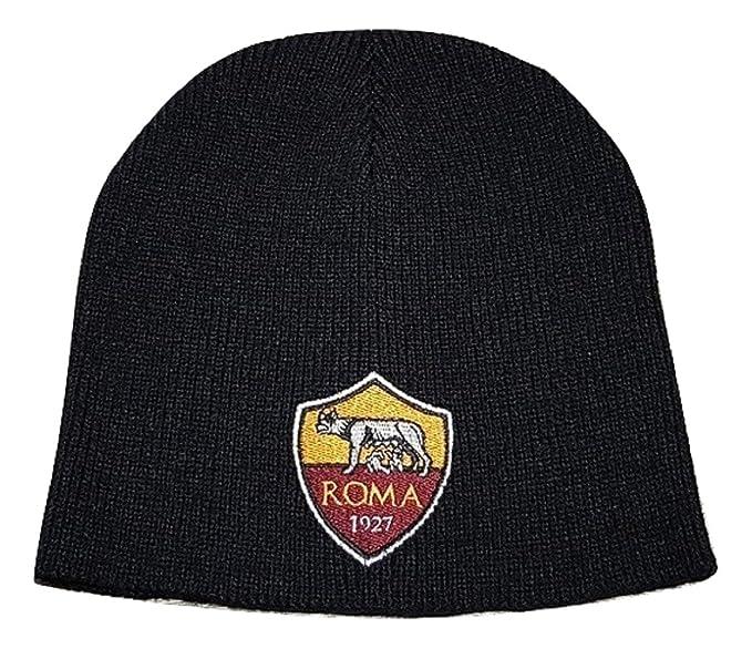 AS ROMA Berretto Cappellino Zuccotto Maglia Colore Nero Taglia Unica  Adulto  Amazon.it  Abbigliamento 6740e80cae54